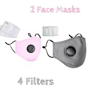 Accessories - ✏️DEAL✏️ 2 Washable Gray Pink Cotton Face Covers